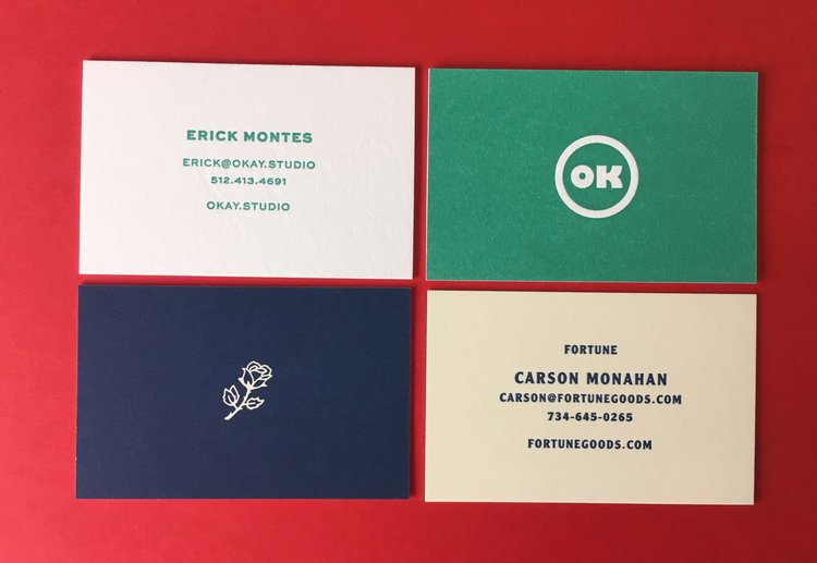 Koch printing business cards letterpress business cards reheart Images