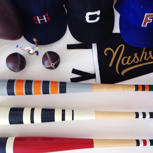 """""""It's fun to collaborate with others that are designing for baseball. It's a tight bunch and I'm happy to be in their circle."""" says Mitchell. MBco has become friends with several other baseball designers such as Jon Contino, Fielders Choice, Leatherhead Sports, Ebbets, Spikes High, Eephus League, Oxford Pennant and Ninthinning TX."""