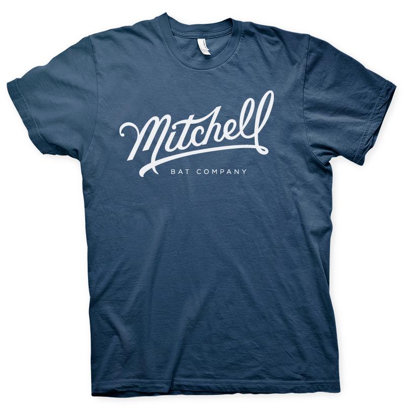 Mitchell Bat Co. navy short sleeve tee $25