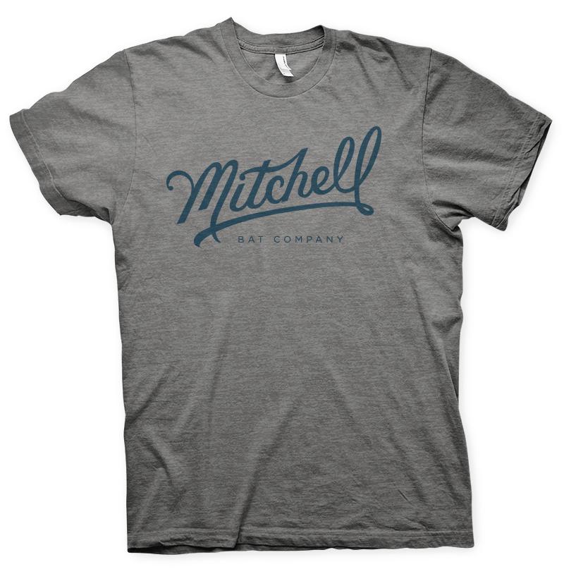 Mitchell Bat Co. gray short sleeve tee $25