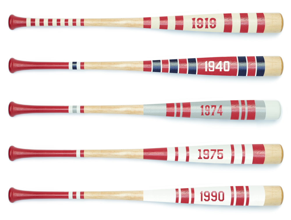 Customize a Mitchell bat with any number or year.