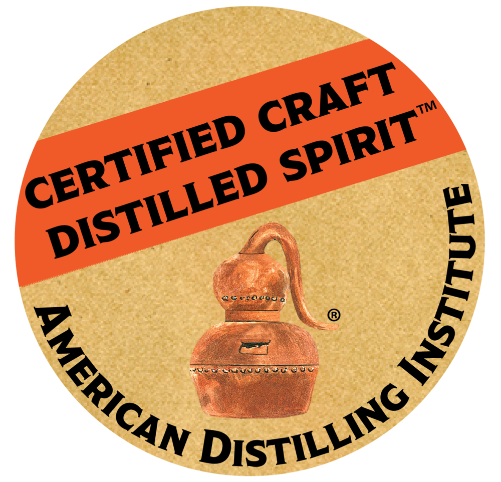 Bourbon Whiskey and Whiskey have been certified as Craft Distilled Spirits by the American Distilling Institute.