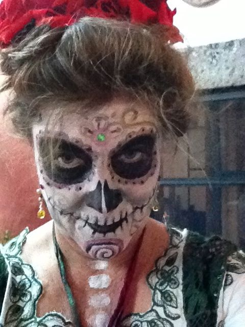 La Calaca - Self make-up & photo - Dia de los Muertos - San Miguel de Allende 2012