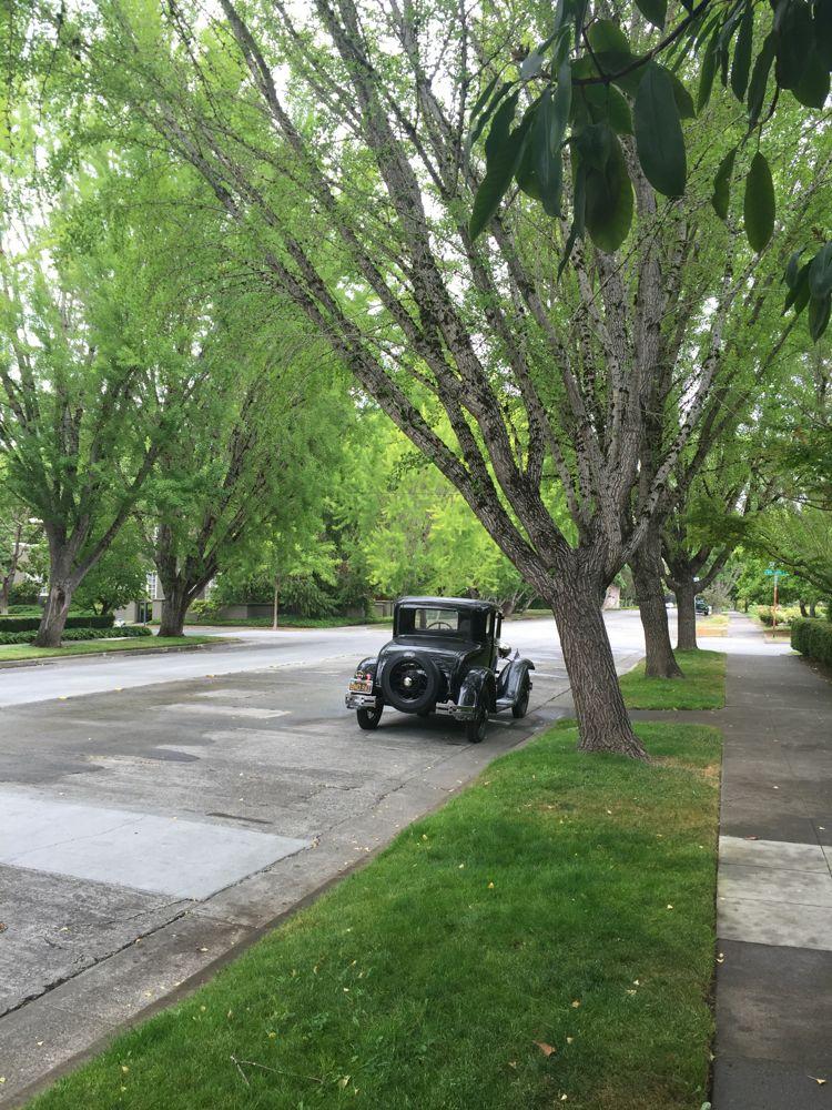 Vintage car on the McDonald Avenue, Santa Rosa, CA