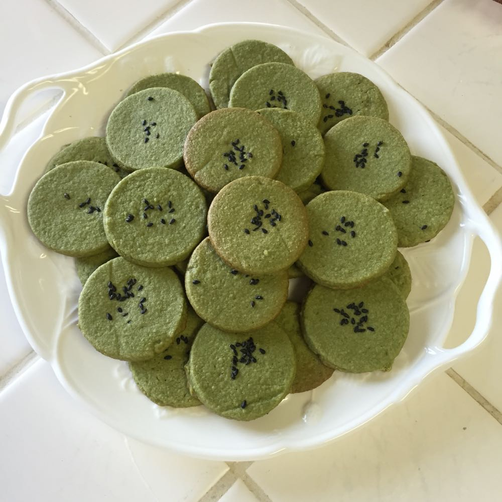 These amazing Grain-Free Matcha Orange Blossom Shortbread with Sesame Seed cookies comes from one of my favorite blogs Tasty Yummies.