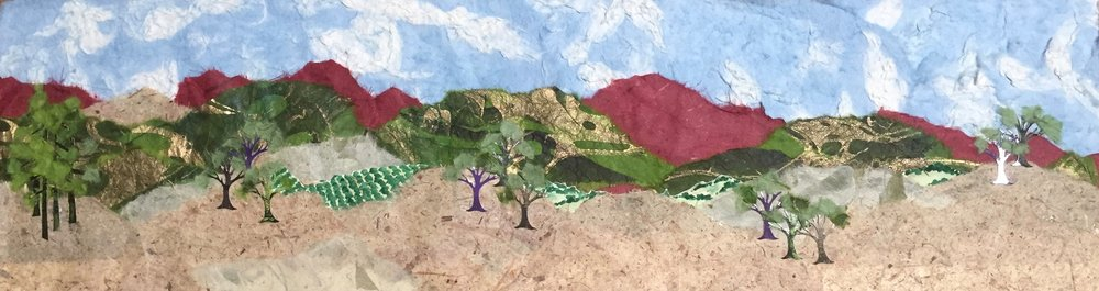 "7"" X 24"" collage of our Sonoma County, California hills..."