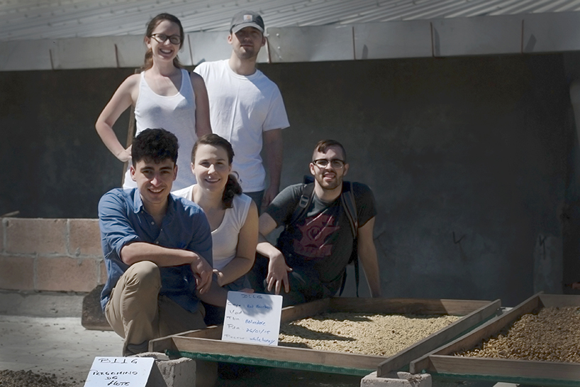 We are like proud parents!  The Evocation team with our own hand picked and processed coffee!