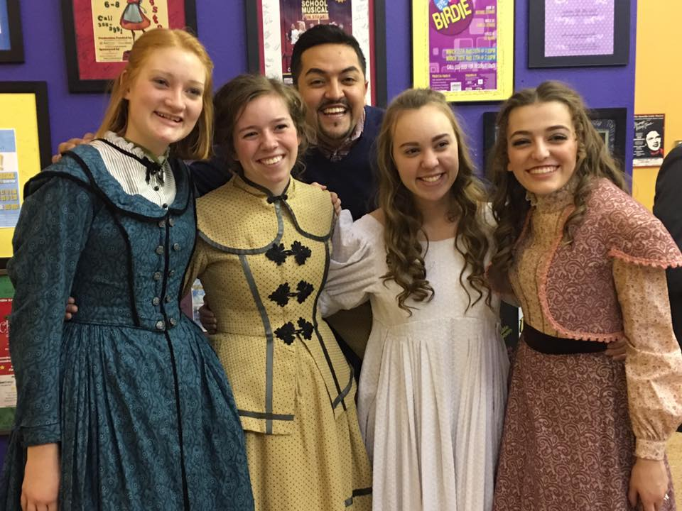 Jason is pictured here with cast members of Little Women, which was performed in January 2017.