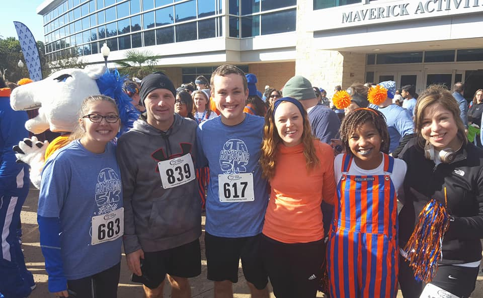UTA Homecoming 5k in November  with some BSM friends