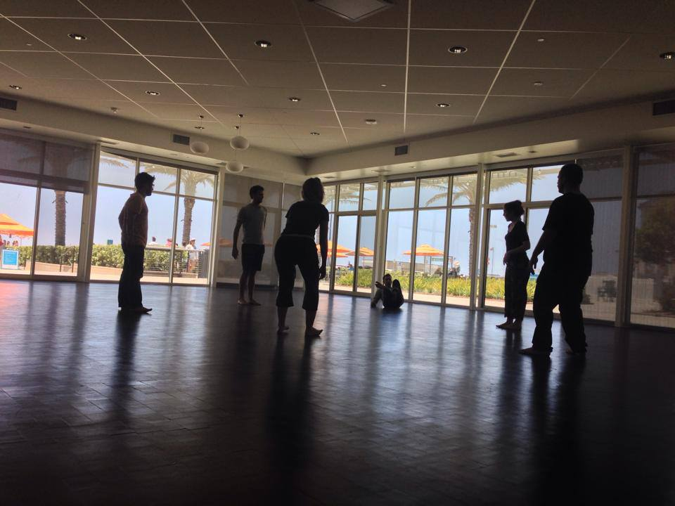 Leading Rehearsal for Rogue Artists Ensemble's Hyperbole:bard at the Annenberg Beach House