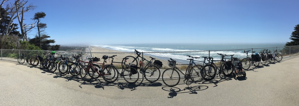 Everybody's bikes Chillin' at Sutro Heights