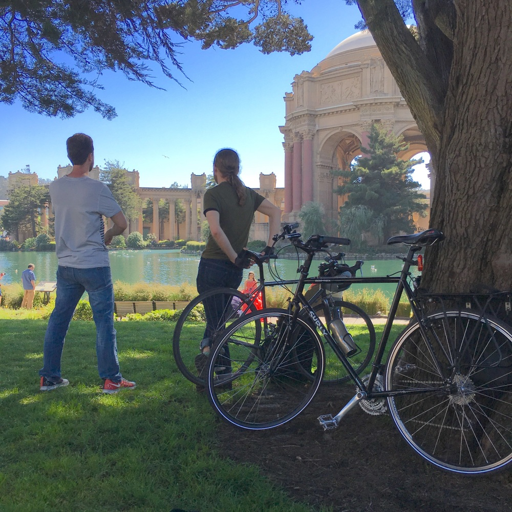 The Fister Bros enjoying the Palace of Fine Arts
