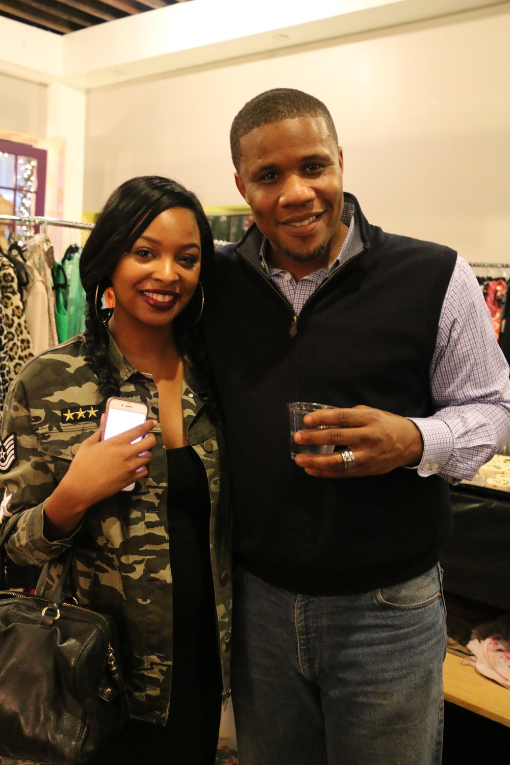 Pictured with one of two of the Owner's of Thrift On The Ave, Christopher Pratner
