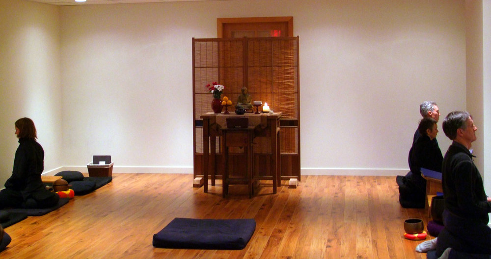 Sitting meditation in Mountain Rain's zendo in Vancouver, B.C.
