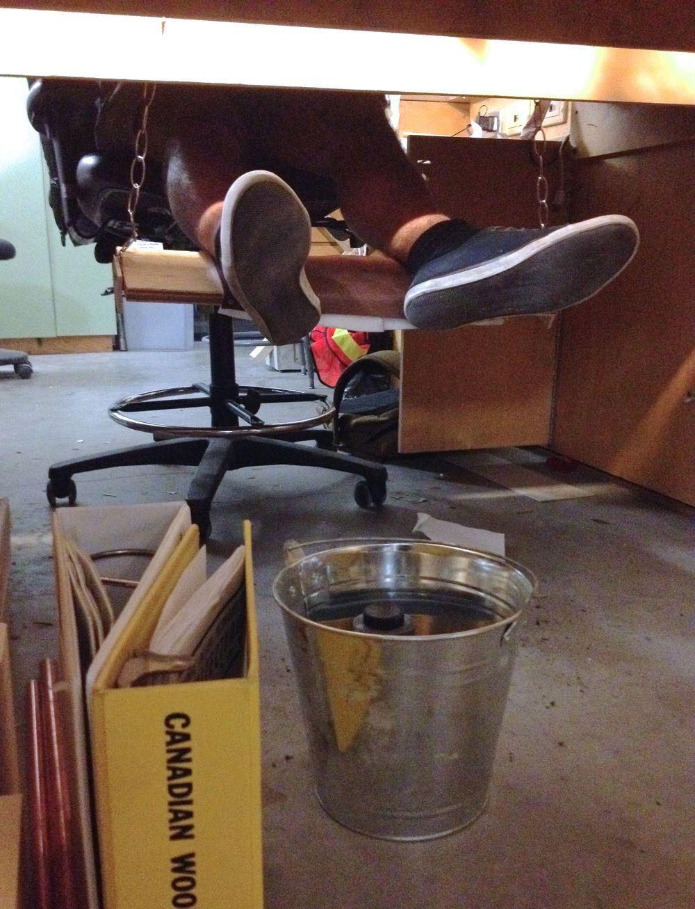 Foot rest/ swing design.