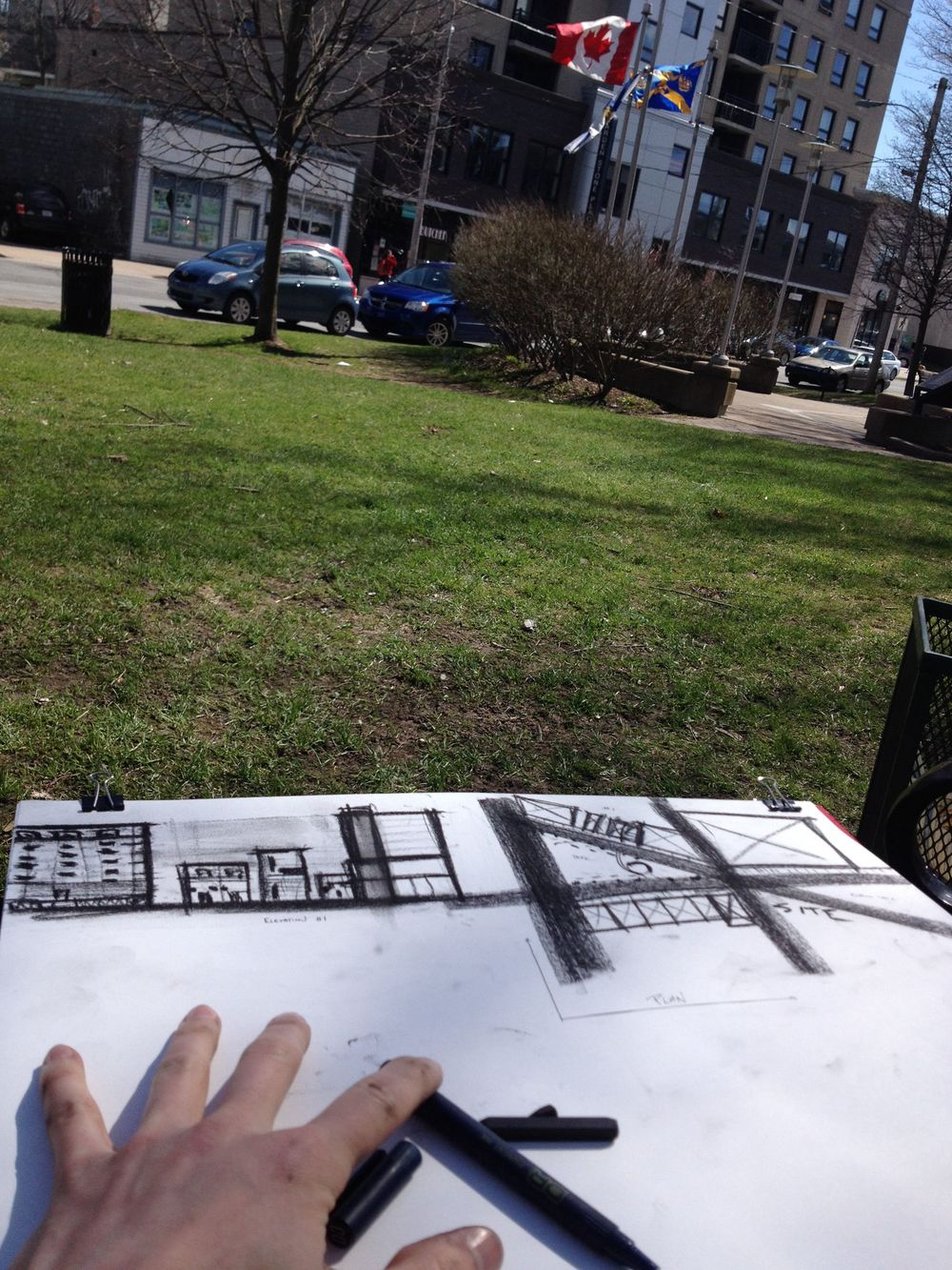 Sketching on site. Second visit.