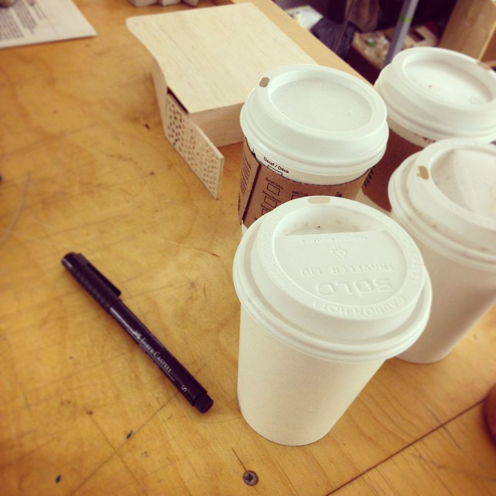 Tighter deadlines mean more coffee from the take-away cafes...