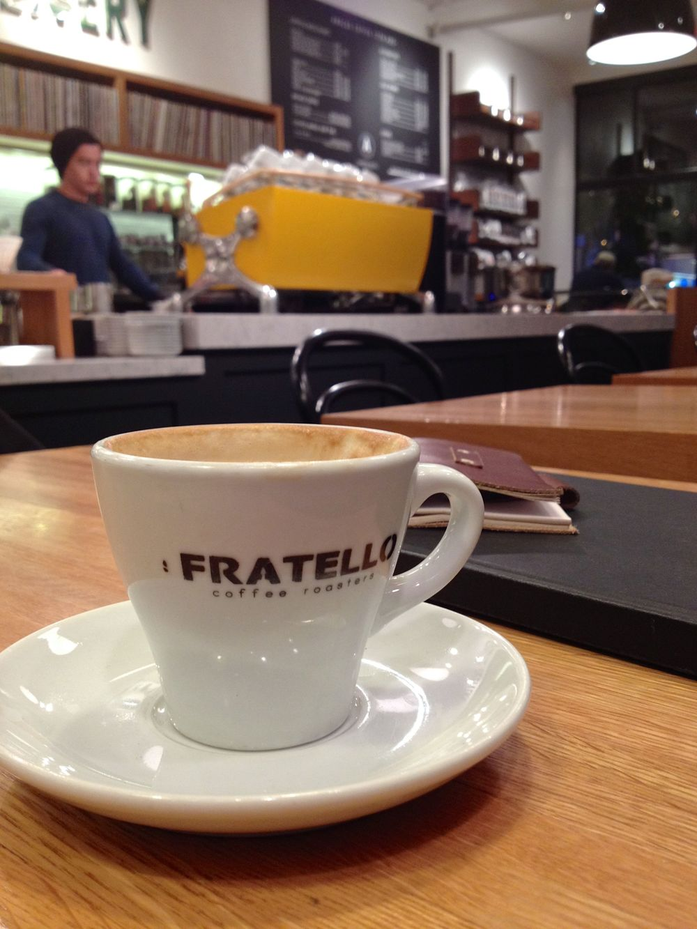 Traditional Cappuccino at Fratello Analog.