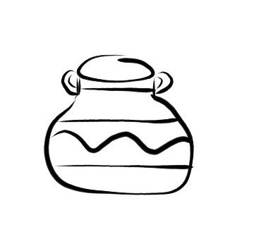 fig. 4: a nicely shaped, better decorated pot