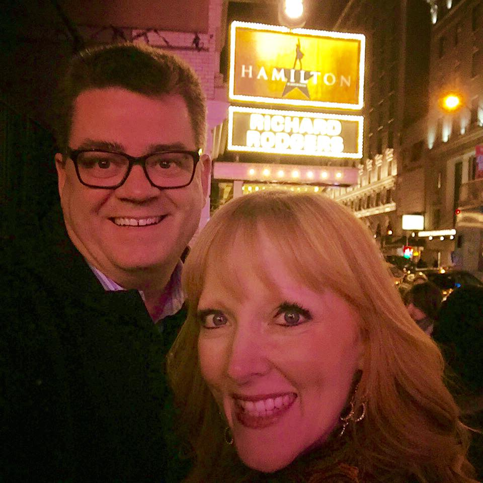 "Scott Sewell and Amy Sewell at ""Hamilton"""