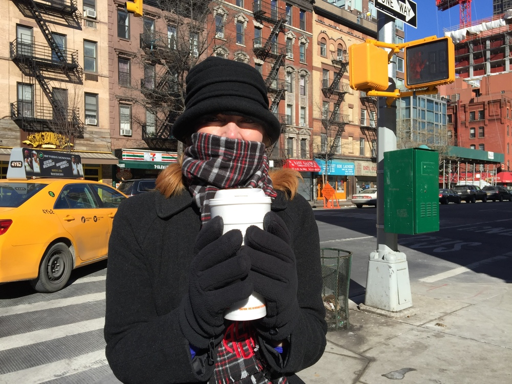 Amy Sewell in NYC Winter