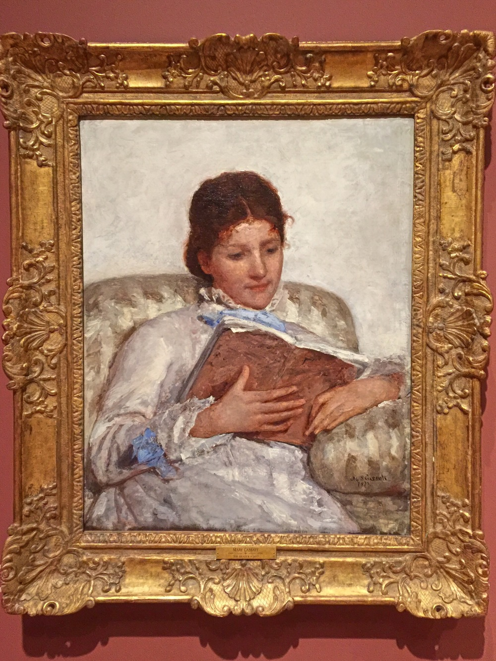 """""""The Reader"""" (Mary Cassatt)"""