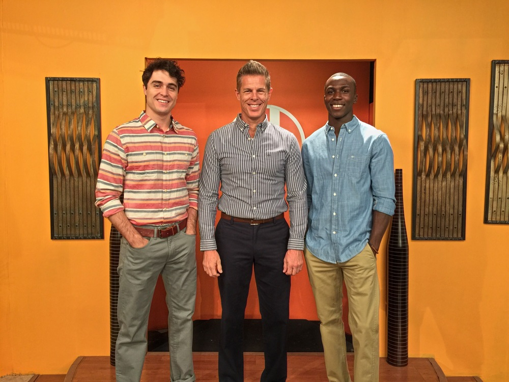 "Models Chad, Jeff and Titus on the ""Sonoran Living"" show."