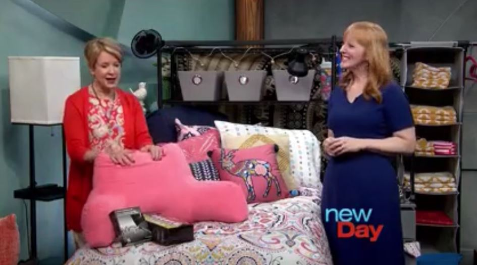 "With host Margaret Larson on Seattle's ""New Day"" show."