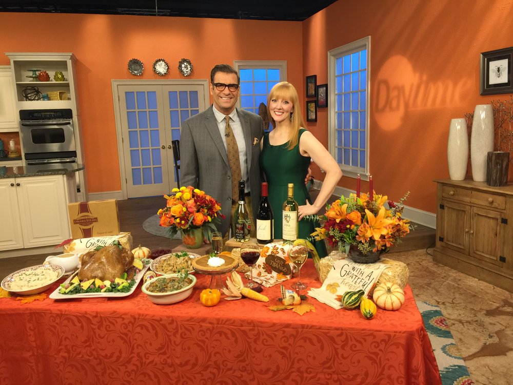 "With ""Daytime"" co-host Jerry Penacoli.  Food styling by FoodSTYL Tampa Bay."