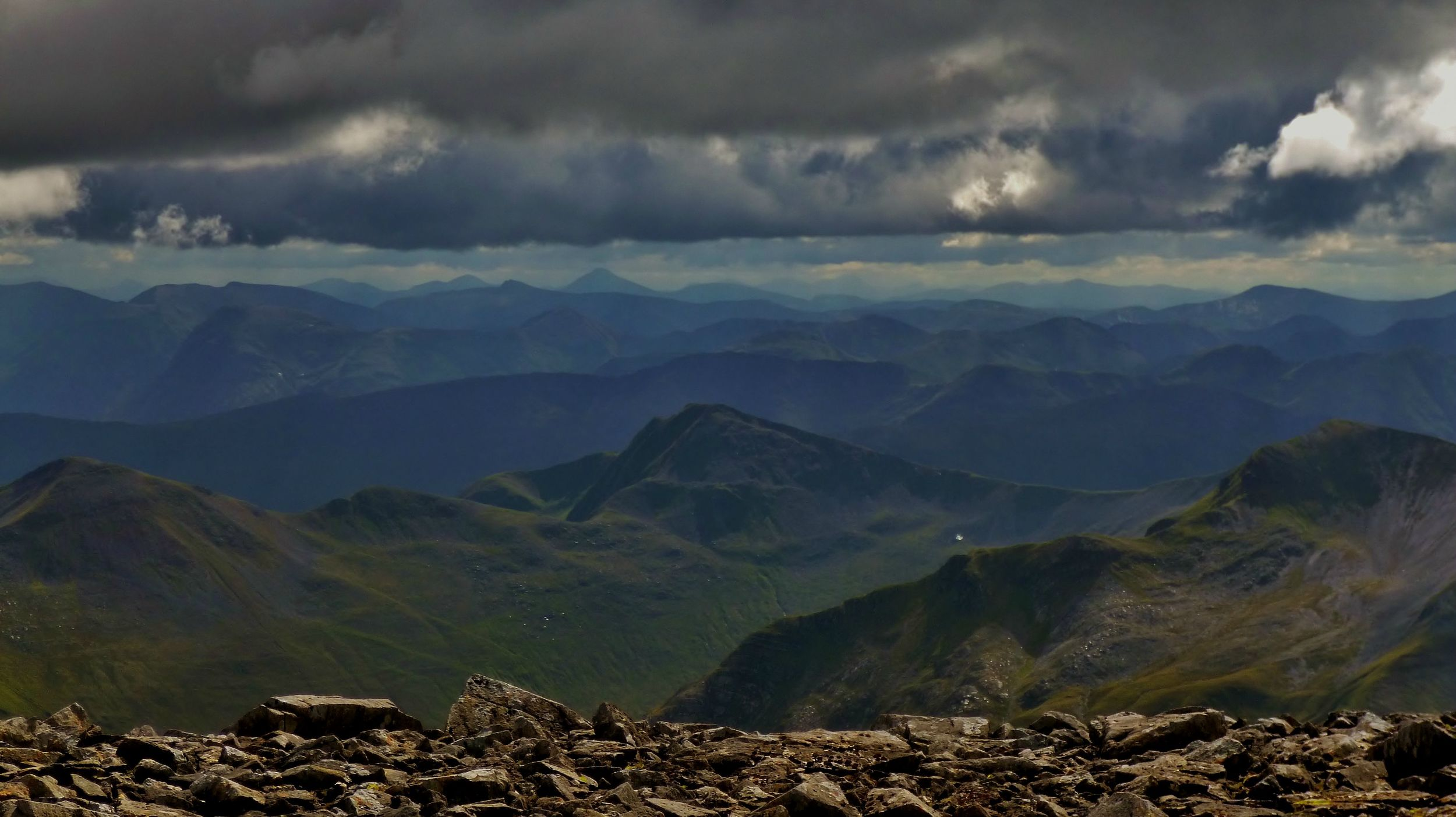 The view from Ben Nevis in the UK