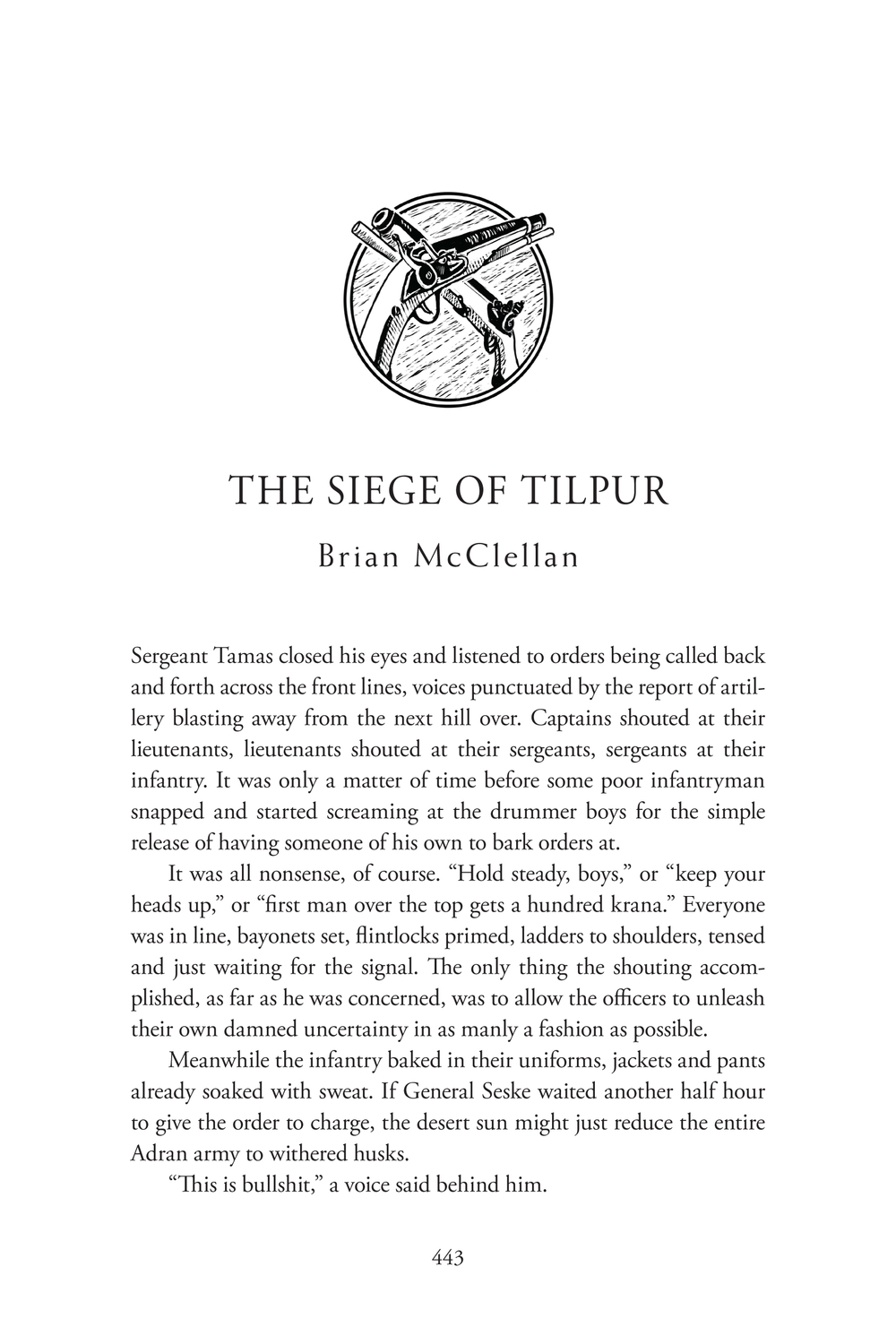 Brian mcclellan first page of my story in unbound fandeluxe Gallery