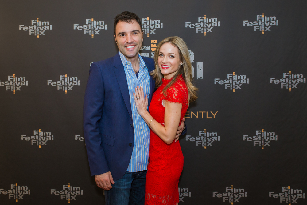 Alex Petrovitch and Katherine Randolph at the Los Angeles premiere of Adulthood, January 2015.