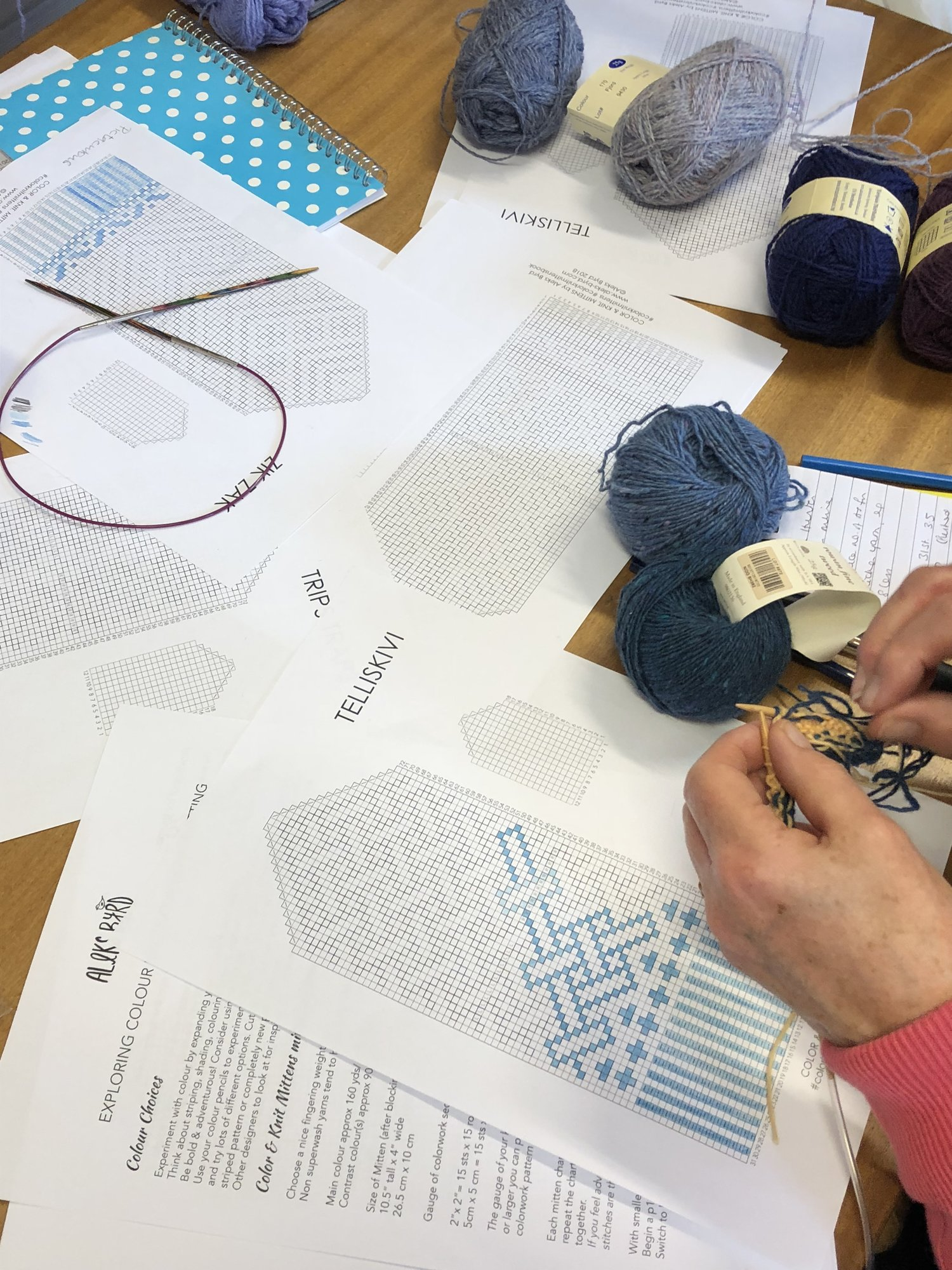 Bath Knitting Crochet Guild Choosing Mixing Colours For Fair