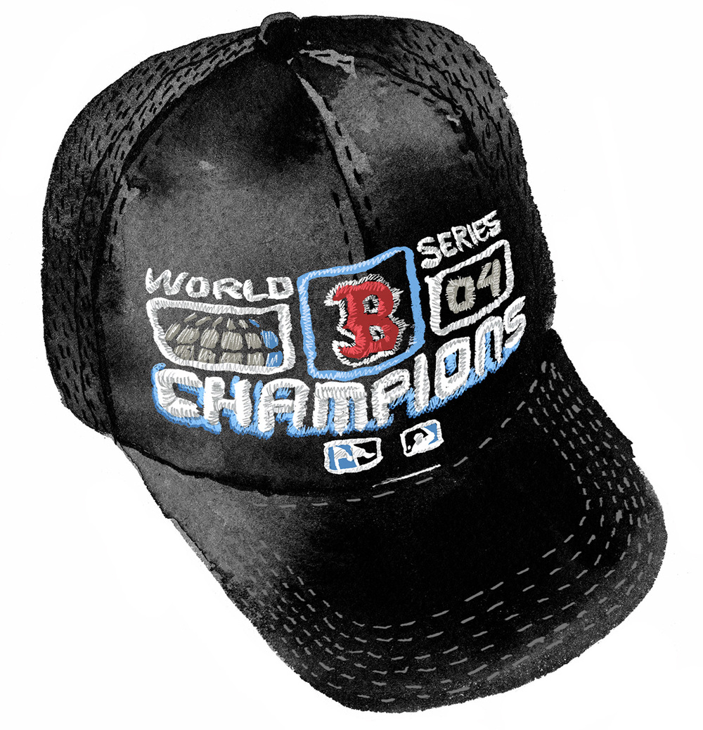 Boston Red Sox Of course things turned around for Boston sports in the early 2000s. This 2004 Red Sox World Series Champions hat is hugely sentimental and massively ugly. Still heart it.