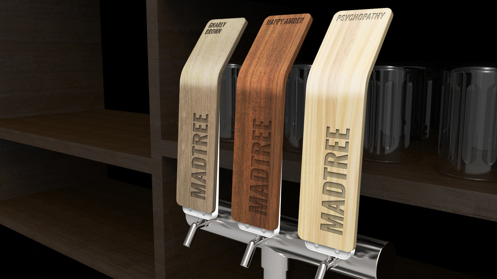 Madtree joel beeby design warm inviting wood takes on a modern clean look with precise laser cut components it connects to the woods of typical beer tap handles but sciox Gallery