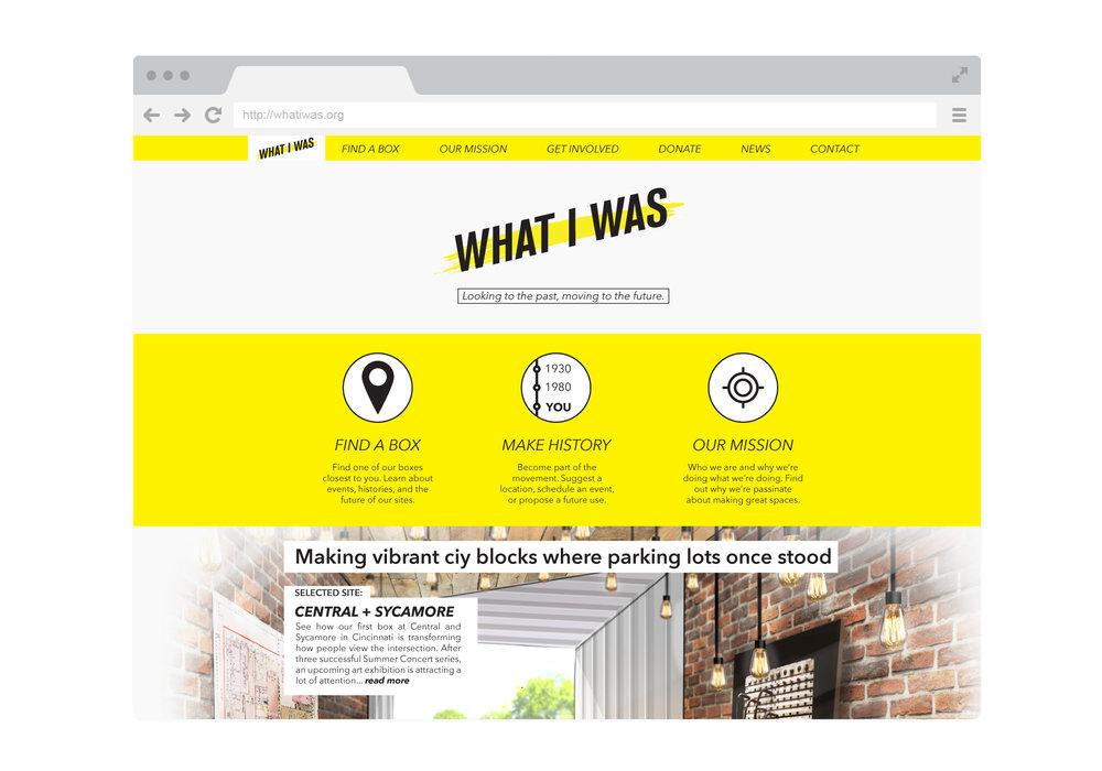Website layout mockup