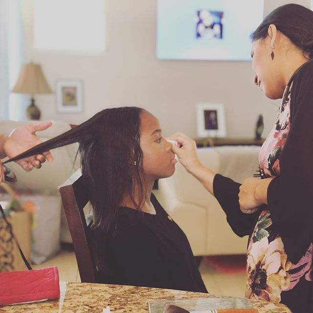A shoot with me means hair, makeup, and a whole lot of pampering. #getuncomfortable #youwillfeelandlookfabolous #plananightoutafterwards #glamour #portraitphotographer #brandiangelphotography