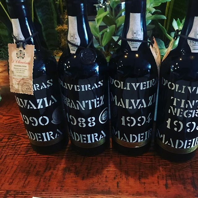 Thanks to Bartholomew Broadbent who brought Madeira to the US in 1988 and revived the favorite drink of the  Founding Fathers. Come try one of these aged gems with one of our delicious desserts. #madeira #foundingfathers #afterdinner #drinks #malvasia #tinto #negra