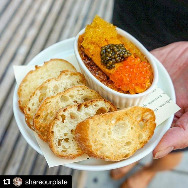 Uni Creme Brûlée looks great with the bus stop bench back drop! Thanks @shareourplate for joining us and for capturing another signature @3rdcousin moment. Try it with #champagne . . #uni #cremebrulee #unicremebrulee #3rdcousinsf #topsfrestaurants #shareourplate #bernalheights #busstop #getinmybelly #eeeeeats #7x7 #zagat #huffposttaste #eatersf #eater #modernluxury #sfmagazine