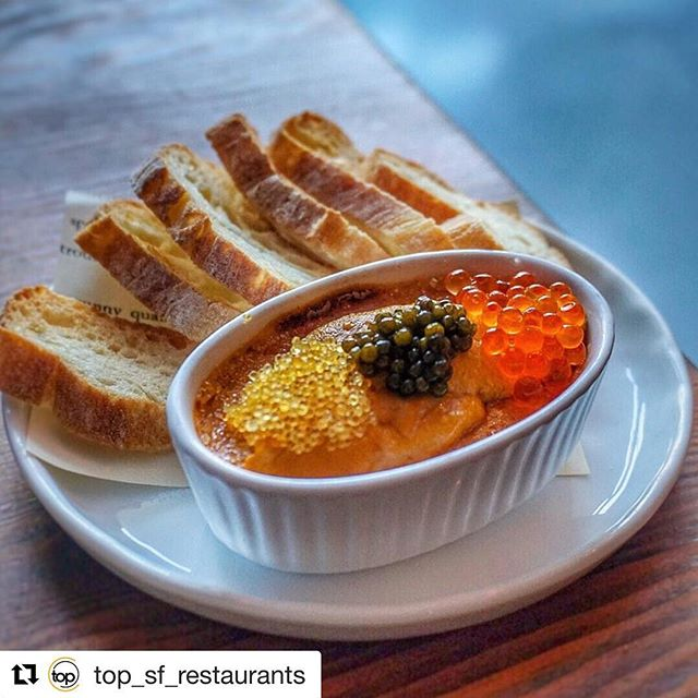 Thank you @top_sf_restaurants for a lovely post and pic of my Uni Creme Brûlée. #3rdcousinsf @3rdcousin @xswhatever you take great food pics! #uni #unicremebrulee