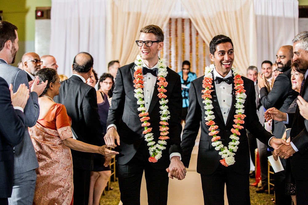 Clover Events | Same Sex Indian Fusion Wedding | Photos by Allison Williams Photography