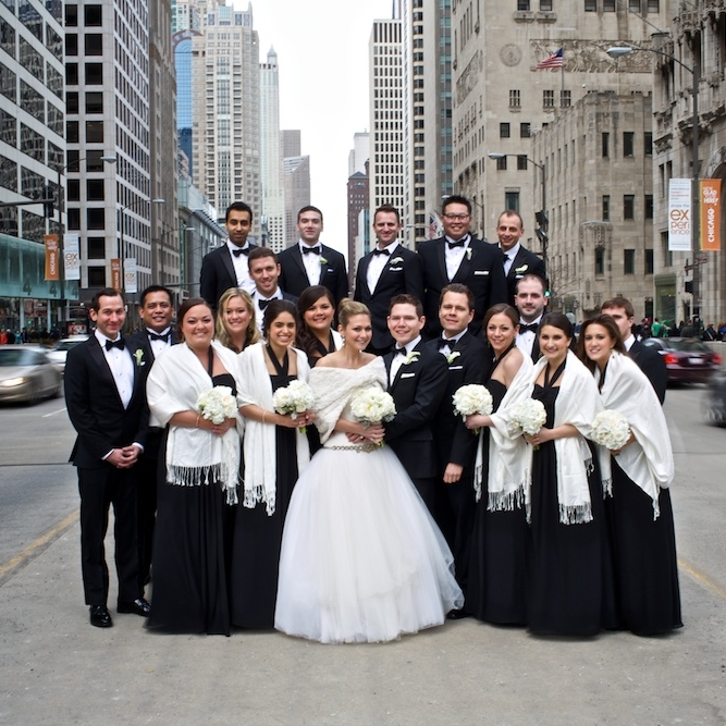 Clover Events-Chicago Wedding Planner-Chicago History Museum-Black and White Winter Wedding