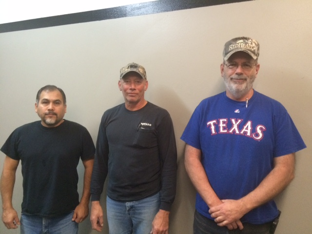 Left to right: Juan Baldenegro - Army, Dwayne Kluttz - Marines, Glen Nutt - Army