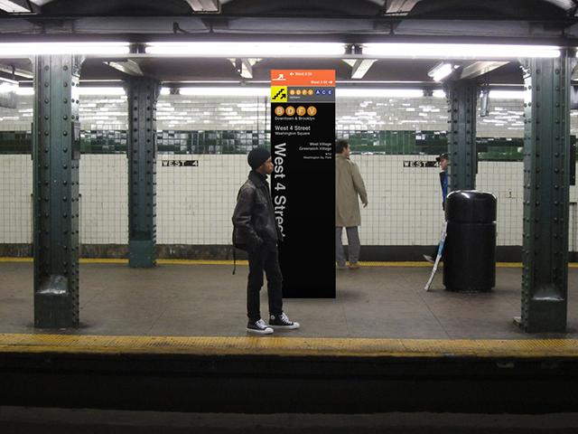 Platform vertical signage mockup
