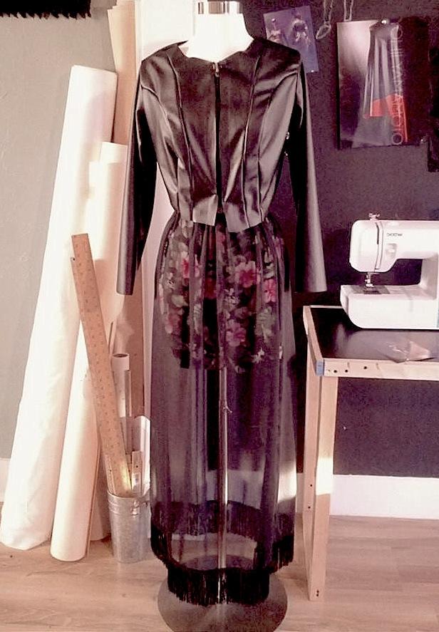 Designed, cut & sewn by TISSU student/aspiring fashion designer DIANA RIOS