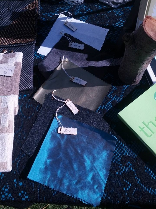 Silk, organic cotton, wool & hemp.