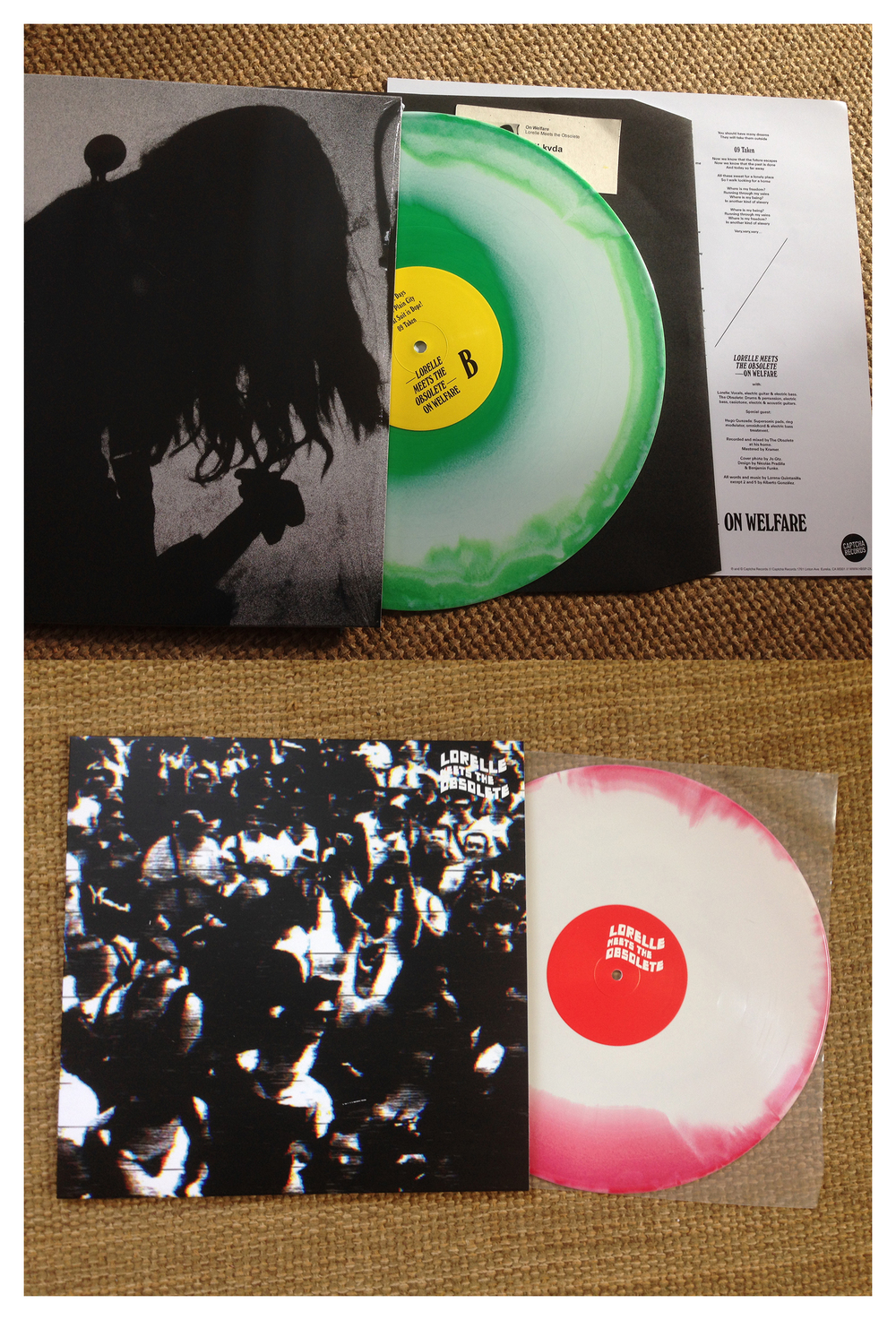 "New to the store are brand new, dazzling copies of  Lorelle Meets the Obsolete 's debut album ""On Welfare"" and sophomore triumph ""Corruptible Faces"". These have both been reissued on colored wax for your pleasure. These albums have been OOP for a little while and have been hot on the eLame reseller's market. Avoid rising costs at the pump, hit em up here.   https://captcharecords.bandcamp.com/album/on-welfare  http://captcharecords.bandcamp.com/album/corruptible-faces"