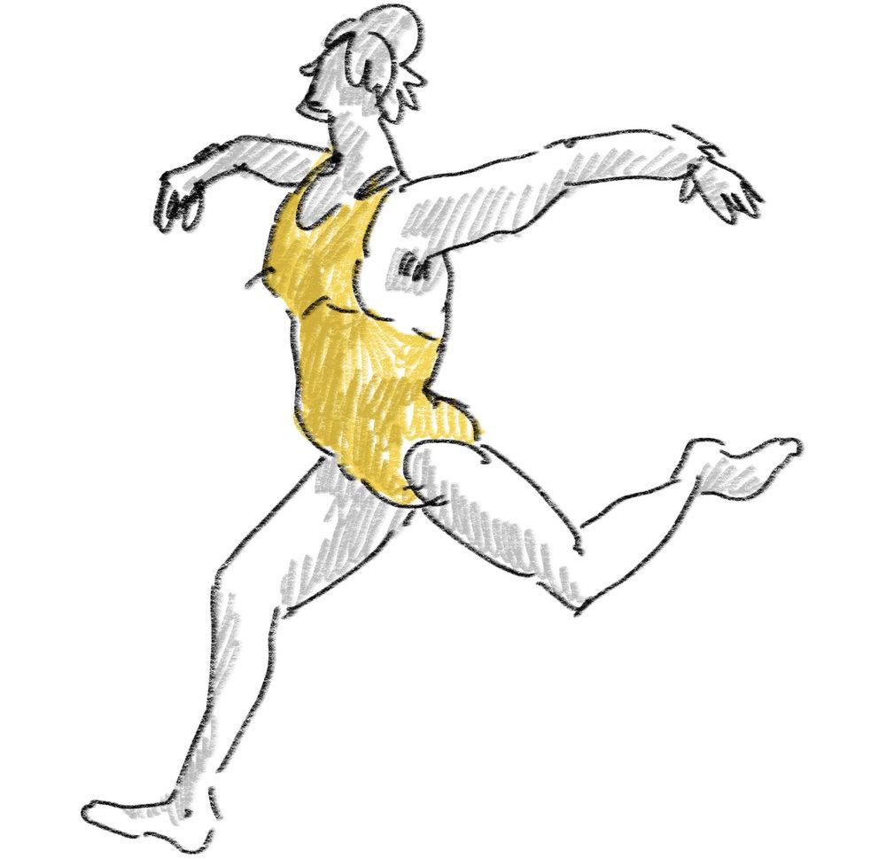 wild yellow runner - apple pencil on procreate