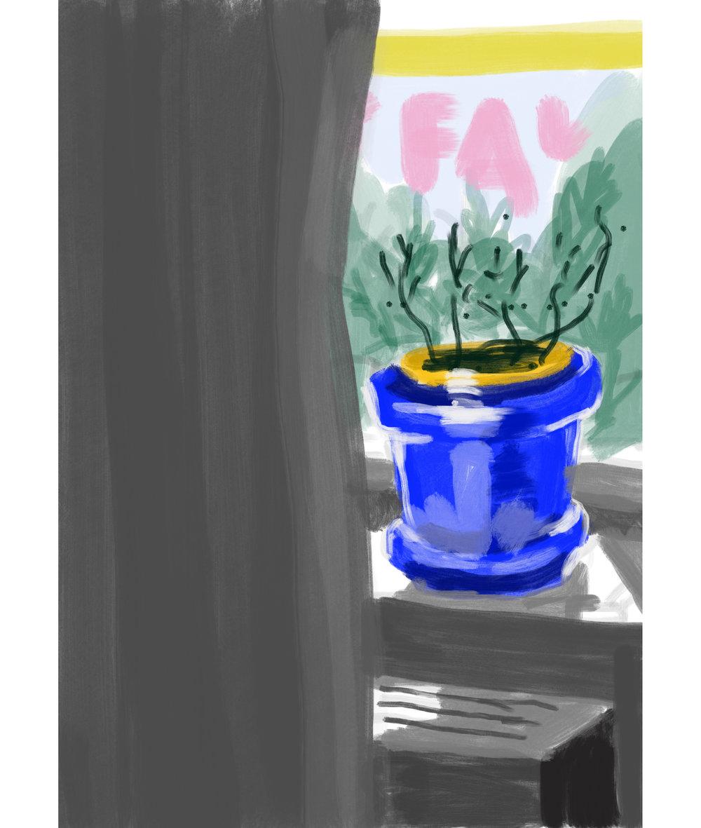 wythe ave window - fingerpainting on procreate