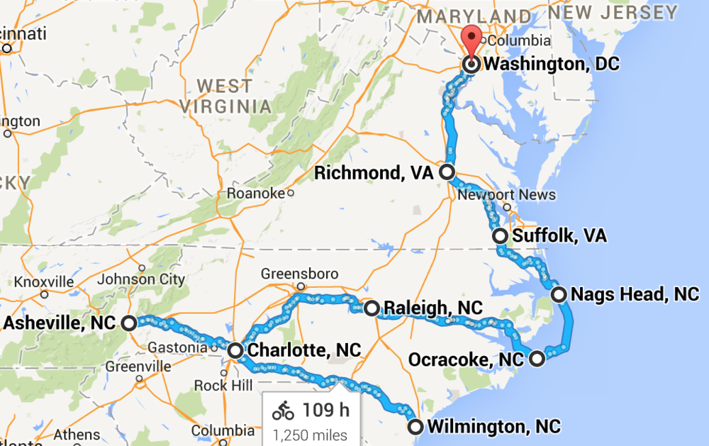 Phase 2: Wilmington, NC to Washington, DC